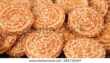 chips cookies wallpaper background - stock photo