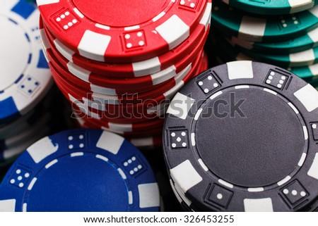 chips for poker - stock photo