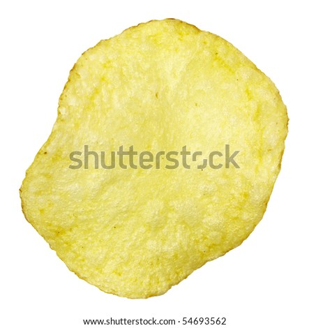 chips,isolated on white with clipping path - stock photo