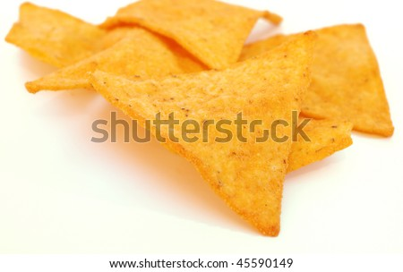 Chips -Mexican chips with white background