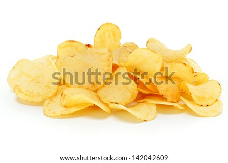 chips  on white background