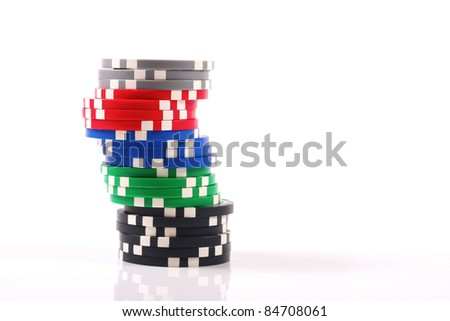 chips stack - stock photo