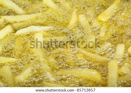 Chips stick fried close up - stock photo