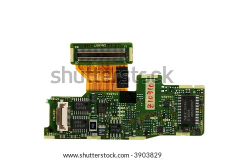 chipset isolated on white