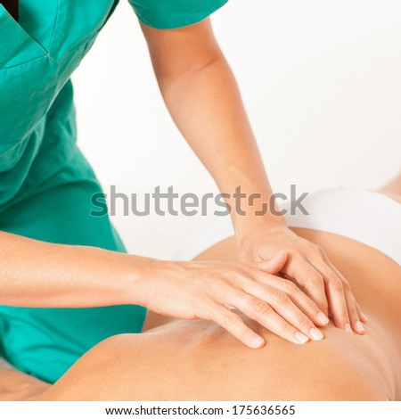 chiropractic care - stock photo