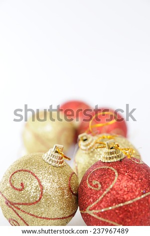 Chirstmas 's ball for celebration and festival. - stock photo