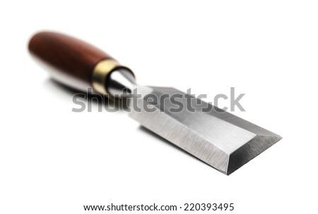 Chisel isolated on white - stock photo