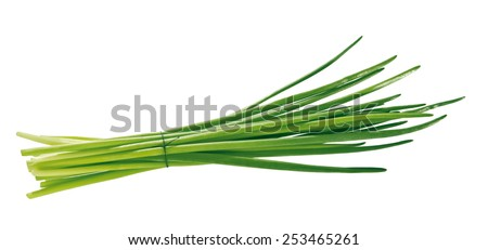 chives isolated - stock photo
