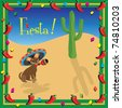 Chiwawa's Mexican Fiesta Party Invitation - stock photo