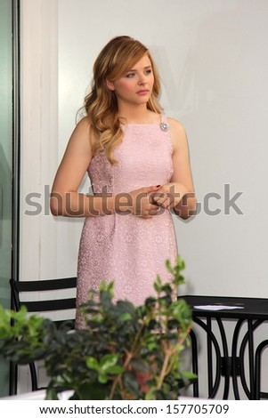 Chloe Grace Moretz at Julianne Moore's Star on the Hollywood Walk of Fame Ceremony, Hollywood Walk of Fame, Hollywood, CA 10-03-13