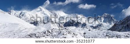 Cho Oyu mountain panorama, Himalayas, Nepal - stock photo