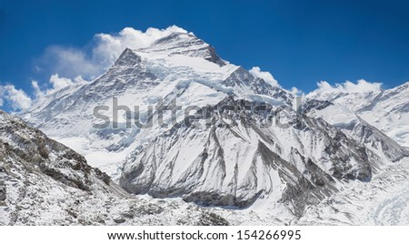 Cho Oyu, the sixth highest mountain in the world from Base Camp