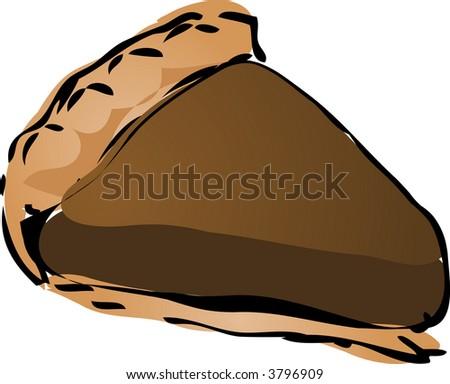 Chocloate cream Pie, hand drawn retro illustration - stock photo