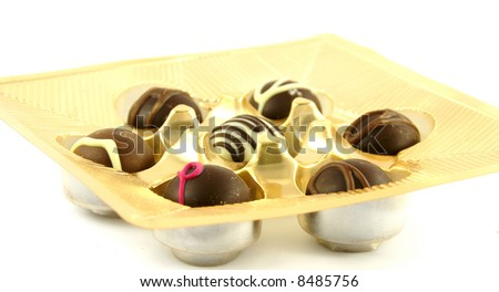 chocolate against white background
