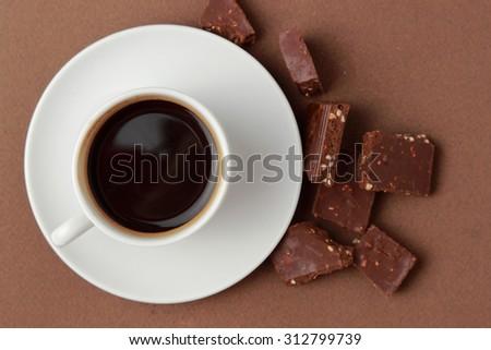 chocolate and coffee - stock photo