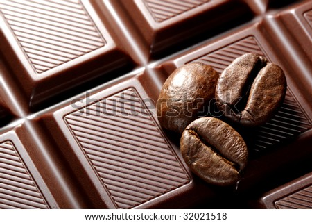 Chocolate and coffee - stock photo
