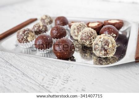 Chocolate ball  - stock photo