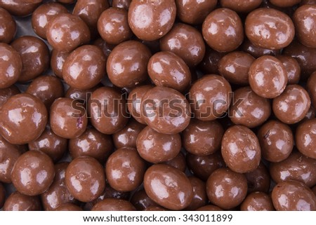 chocolate balls. chocolate balls on a background. - stock photo