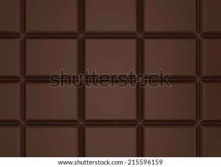 Chocolate bar. 3d background - stock photo