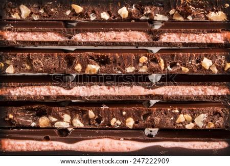 chocolate bar detail - stock photo