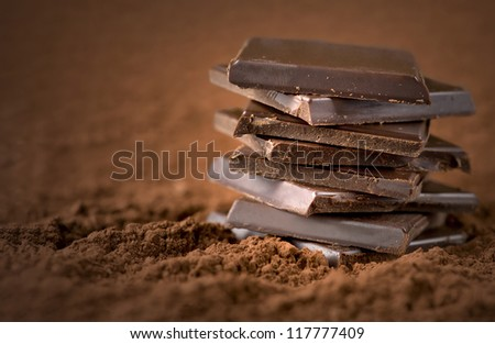 Chocolate Bars Close up