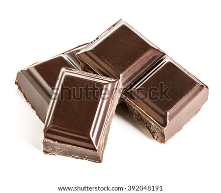 Chocolate bars isolated on a white background. - stock photo