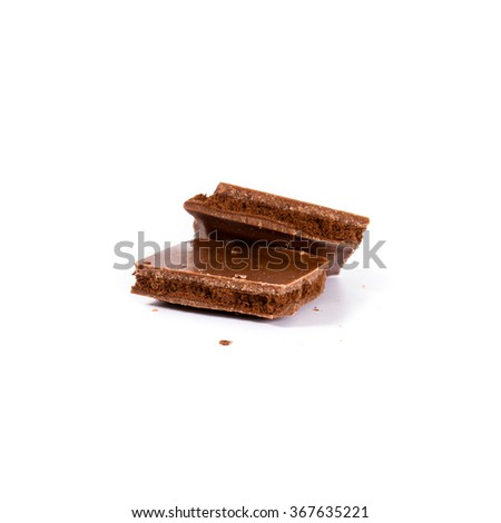 chocolate bars - isolated on white background