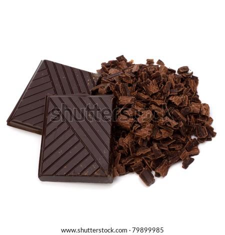 Chocolate bars  isolated on white background - stock photo
