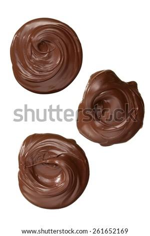 Chocolate Blobs - stock photo