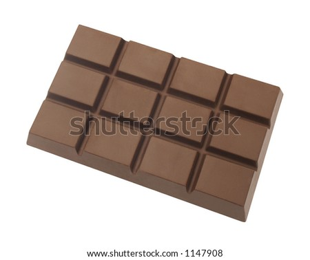 Chocolate Block isolated on white
