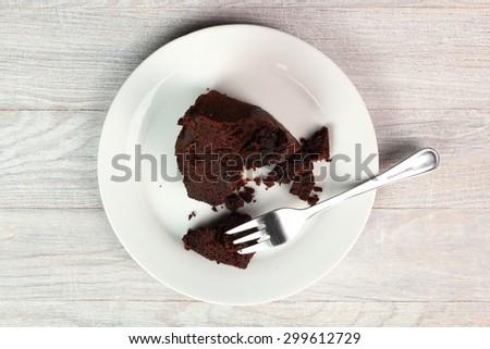 Chocolate bourbon cake - stock photo