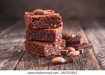 chocolate brownie - stock photo