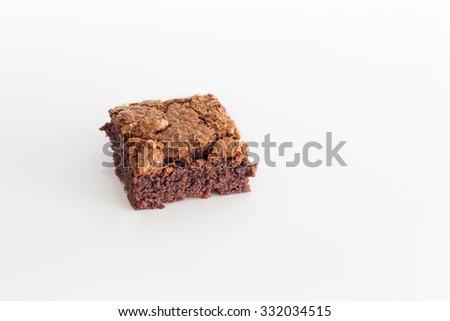 Chocolate brownie - stock photo