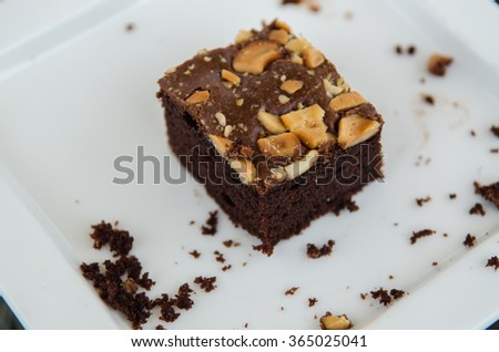 Chocolate brownie with Almonds