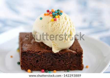Brownie Ice Cream Stock Images, Royalty-Free Images ...