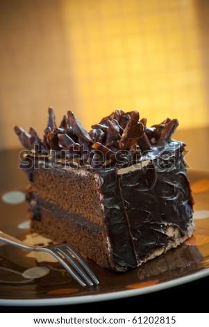 chocolate-cake - stock photo