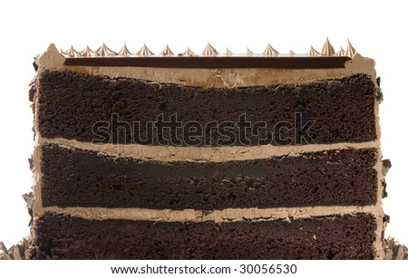 Chocolate Cake Cut In Half - stock photo