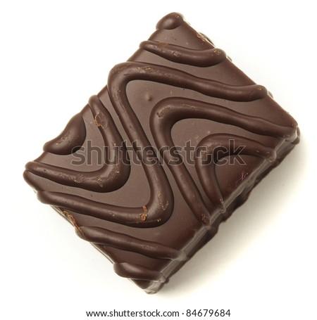 chocolate cake isolated on a white background - stock photo