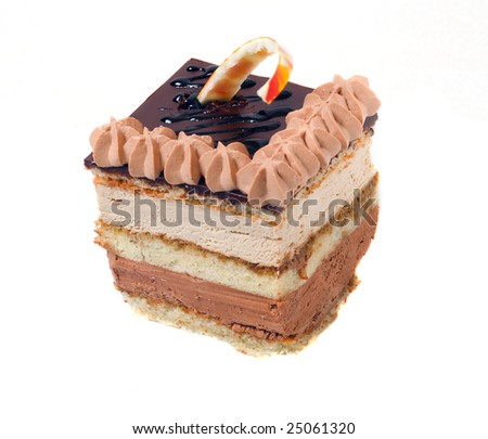 chocolate cake.sweet dessert - stock photo