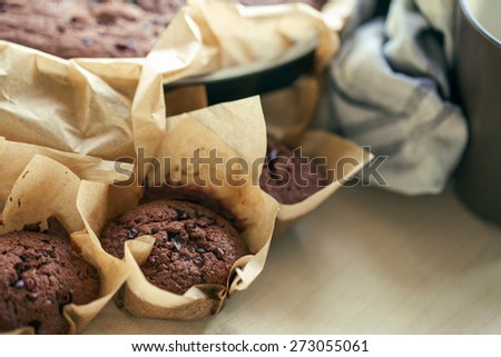 Chocolate cakes - stock photo
