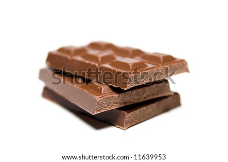 Chocolate candy bars shot with selective focus - stock photo