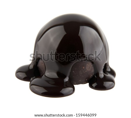 chocolate candy is isolated on a white background. picture from series.