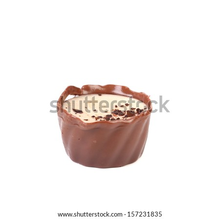 Chocolate candy. Isolated on a white background - stock photo
