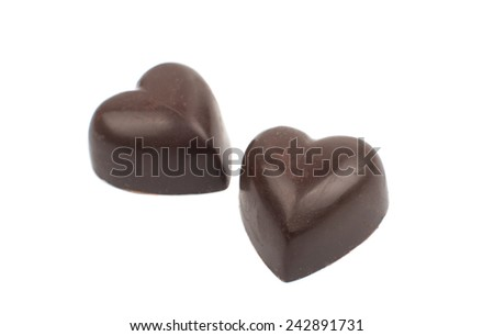 chocolate candy on a white background - stock photo