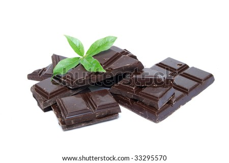chocolate candy with mint