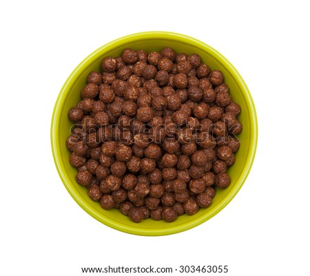 Chocolate Cereal Balls - stock photo