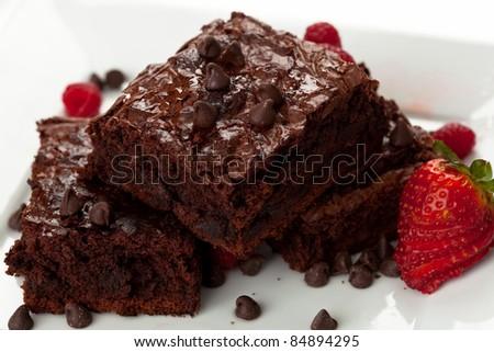 Chocolate Chip Brownies 10 - stock photo