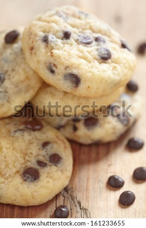 chocolate chip cookies - stock photo