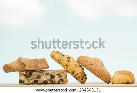 Chocolate Chip Cookies and Biscotti, Baked Goods - stock photo