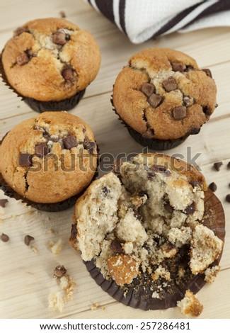 Chocolate Chip Muffins  - stock photo